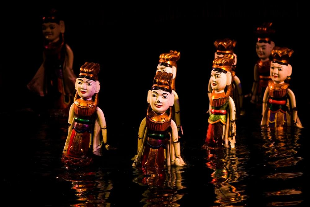 See the water puppets