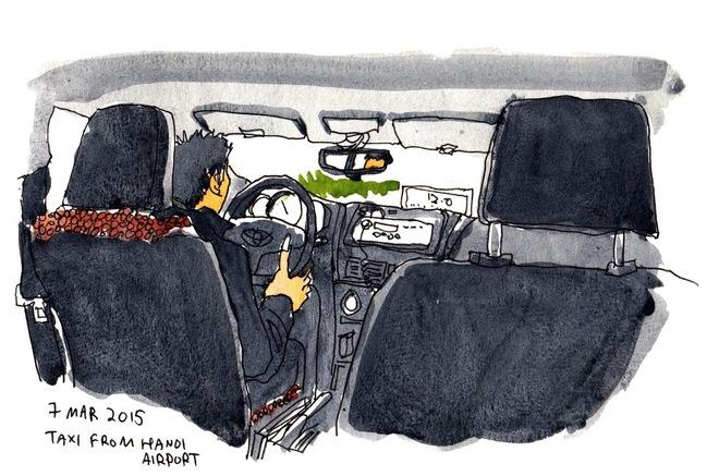 ハノイのタクシーで