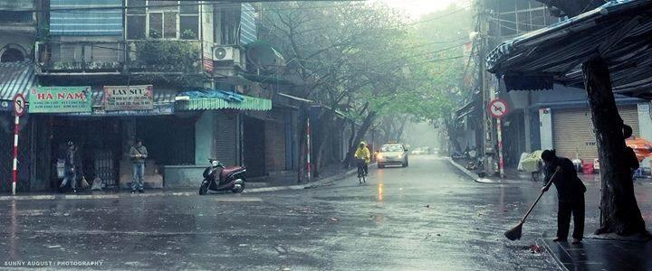 rainy day in Hanoi