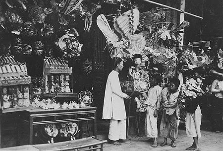 Рай игрушек, привлекающих детей на улице Хан Ма