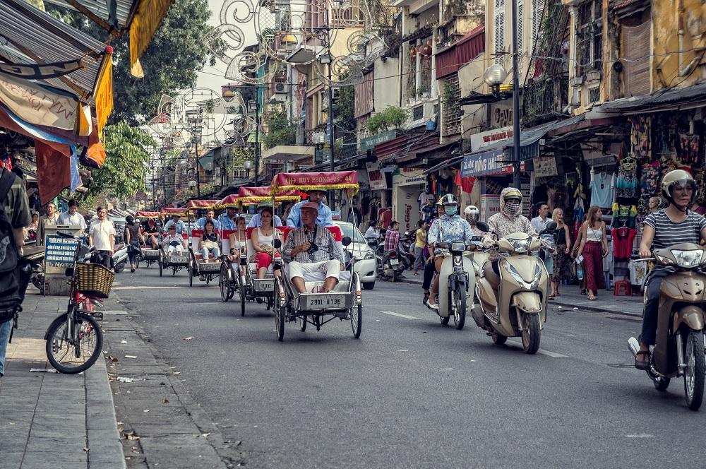 Take a cyclo ride in Hanoi